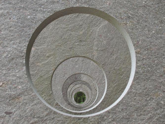 Foto di una serie di cerchi concentrici