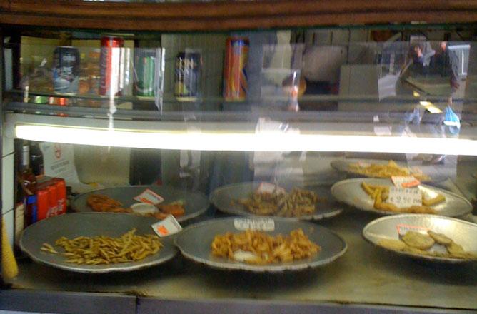 vetrina di un ristorante