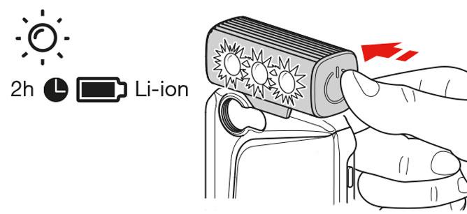 disegno istruzioni durata batteria LED
