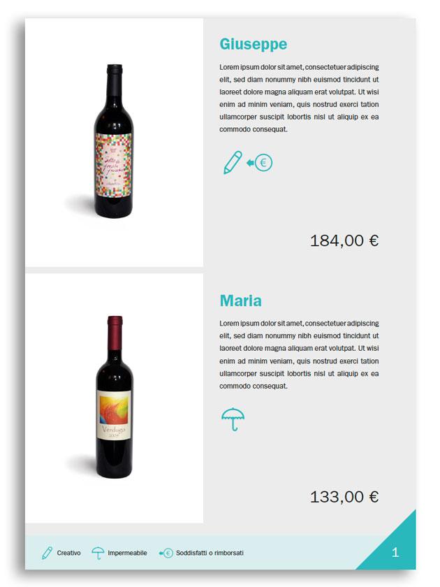 Esempio listino prezzi (c)
