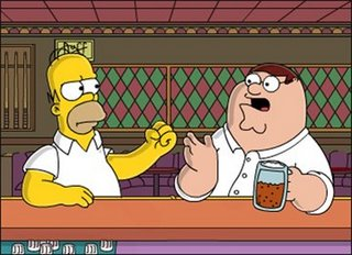 Homer Simpson e Peter Griffin al bar