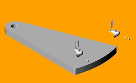 Immagine dello scalino e dei suoi componenti ricavata dal 3D