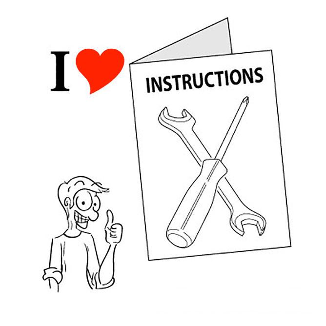 I love instructions