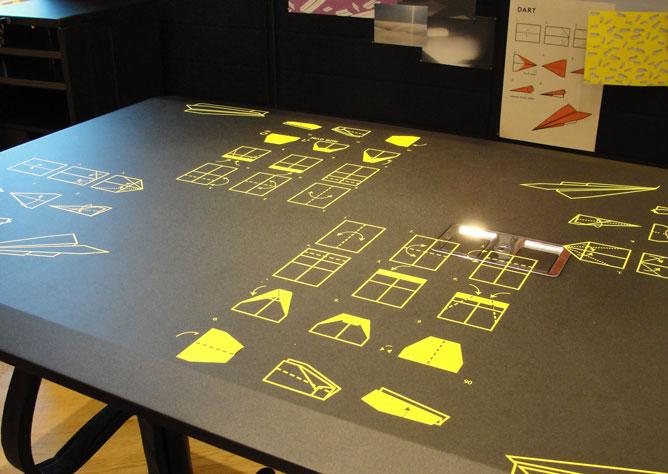 foto istruzione stampata sul tavolo