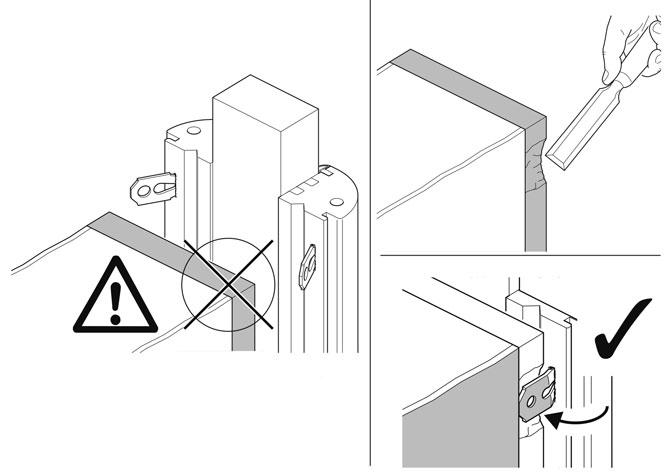 disegni tratti dall'istruzione di installazione di una porta