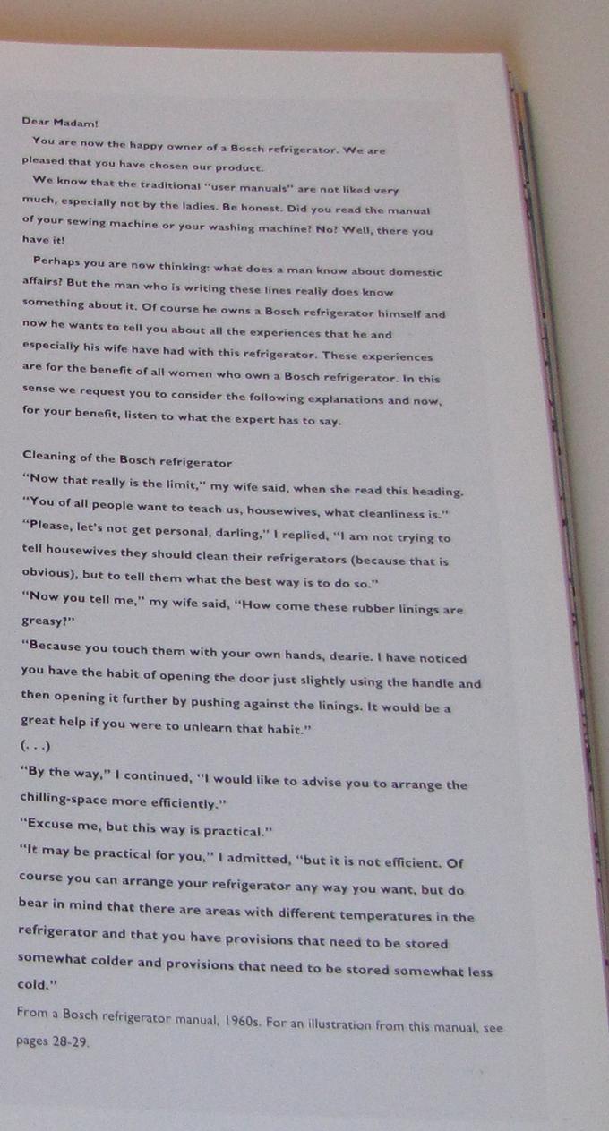 una porzione del manuale Bosch come riportato nel libro Open Here