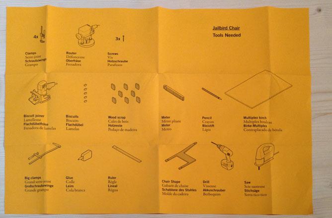fascetta colorata contenente gli strumenti