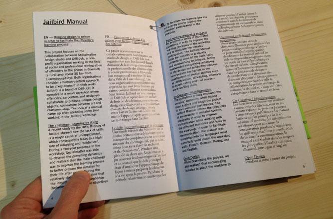 pagina di testo che spiega il progetto