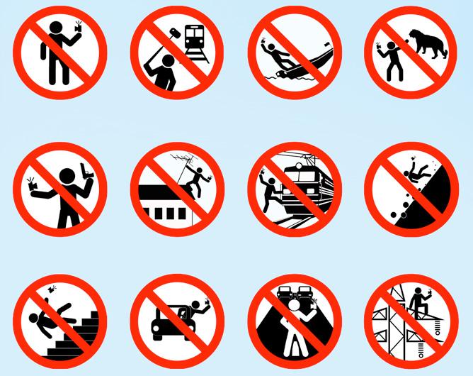 Pittogrammi utilizzati nella campagna selfie-sicuro