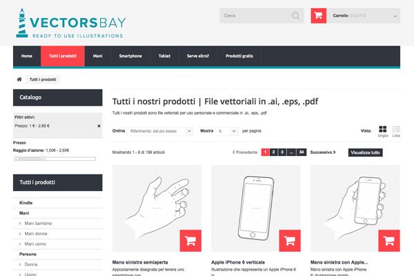 Screen shot del sito vectorsbay.com